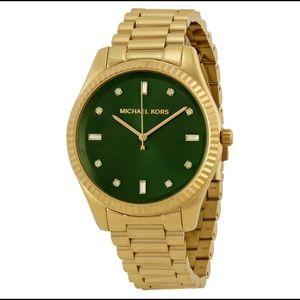 MICHAEL KORS Emerald Green Dial Gold-tone  Watch